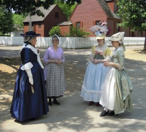 Williamsburg ladies on their morning walk.